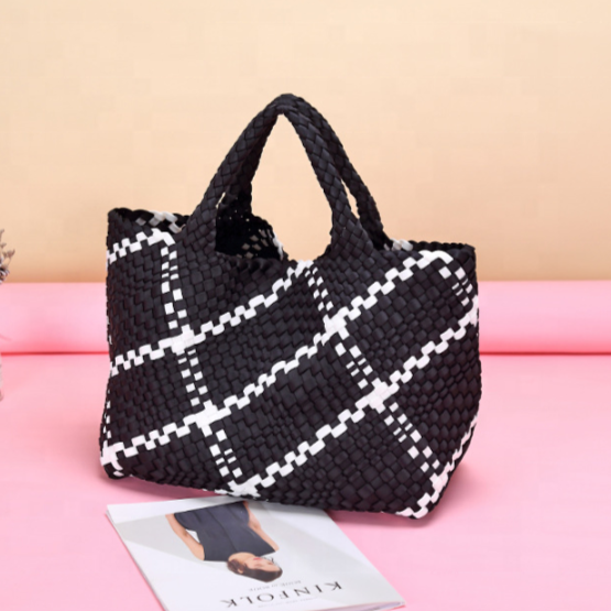 Woven Neoprene Bag Black/White