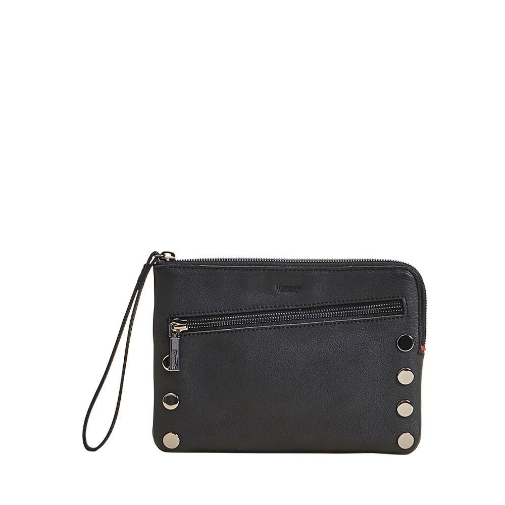 Nash Small Clutch Black with Gunmetal