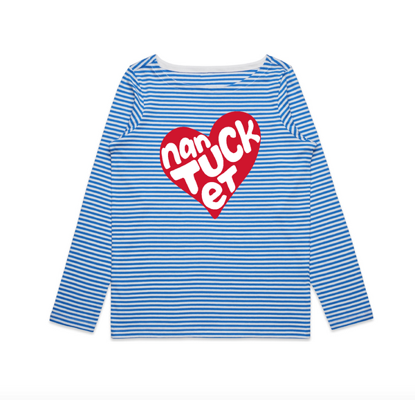 Heart Nantucket Long Sleeve Stripe Tee