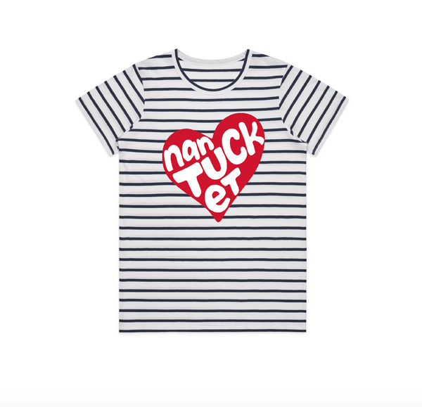 Heart Nantucket Short Sleeve Stripe Tee