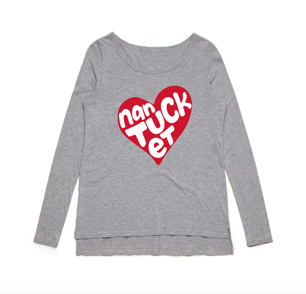 Heart Nantucket Long Sleeve Tee