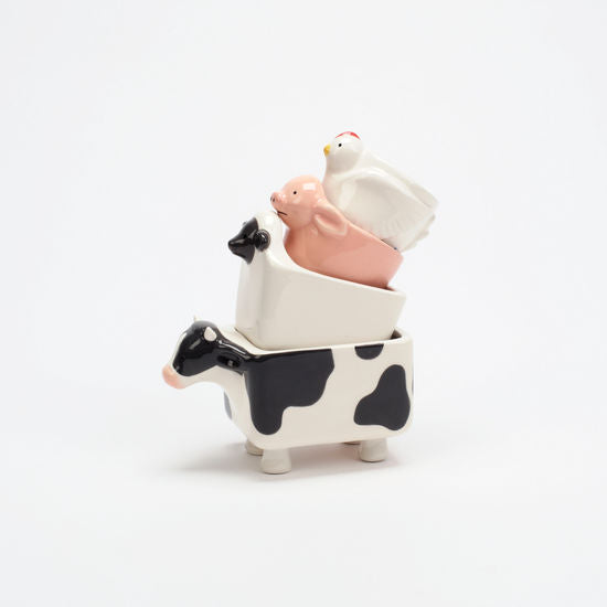 Farm Animal Measuring Cup Set