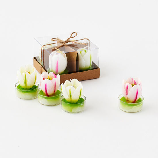 TeaLight Candles - Sculpted Tulip