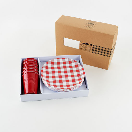 Red Gingham Picnic Set
