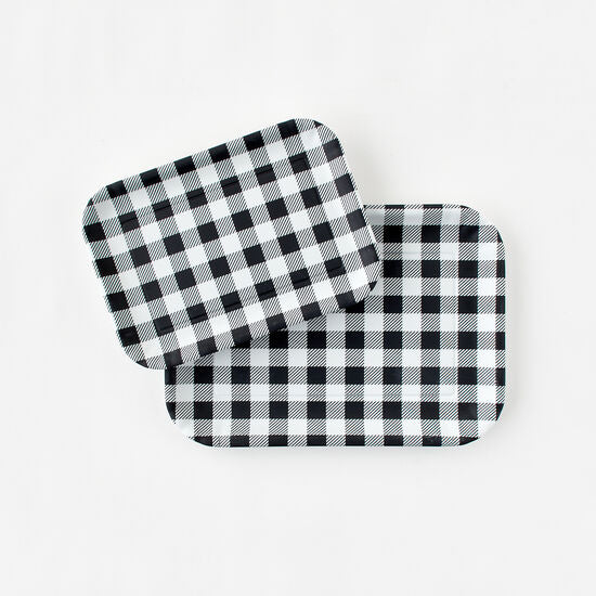 "Black Gingham ""Paper"" Tray"