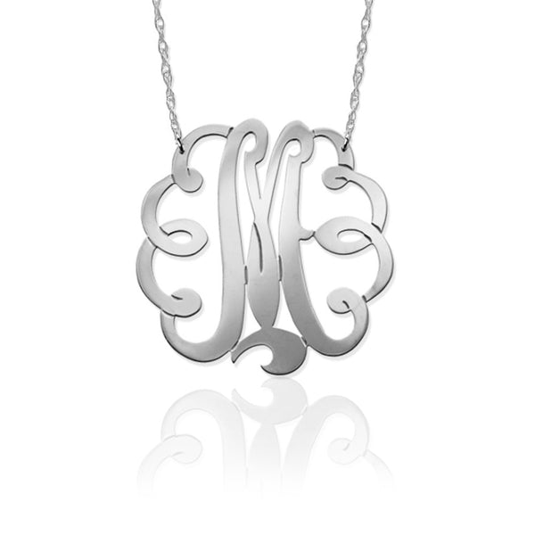 Single Letter Swirl Initial Pendant