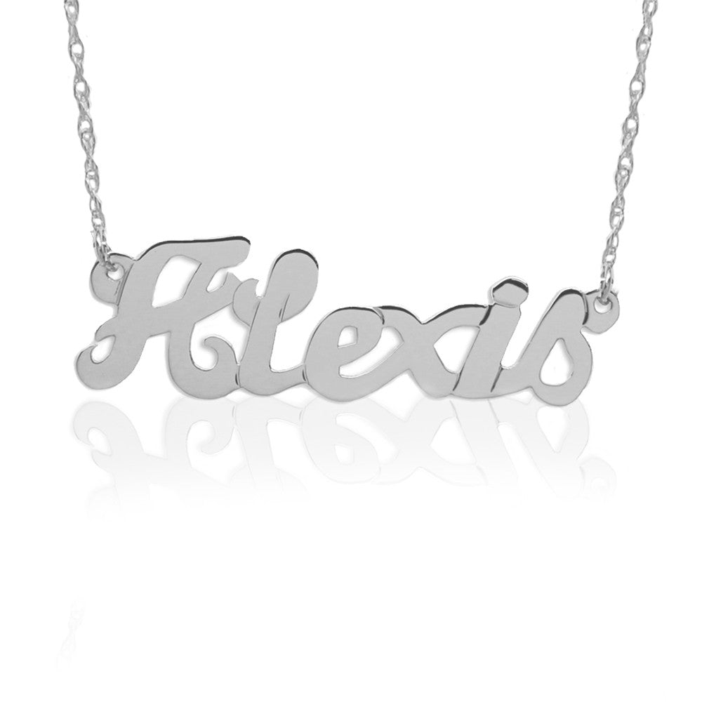 Large Script Nameplate Necklace