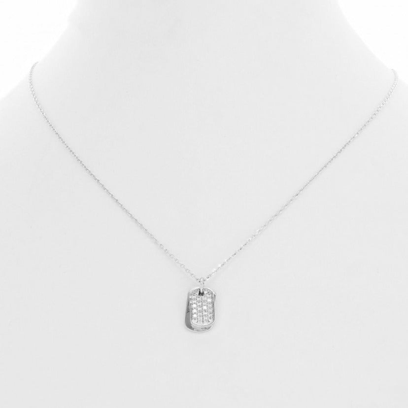 Double Tags Necklace Silver