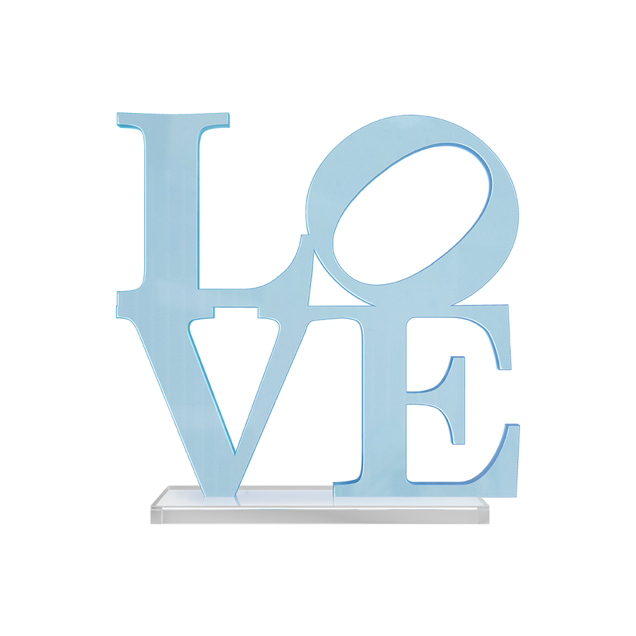 LOVE 8X8 Tabletop Neon Blue