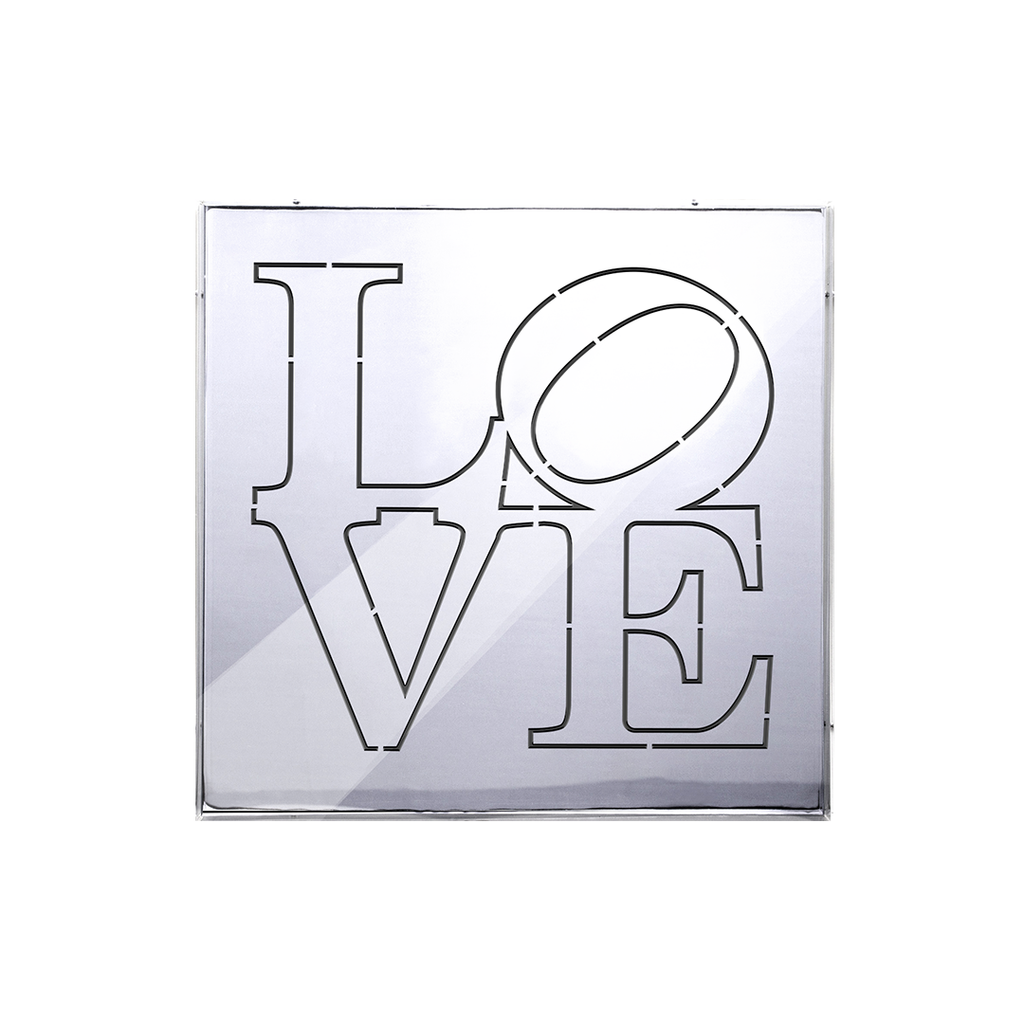LOVE Silver Mirror Box