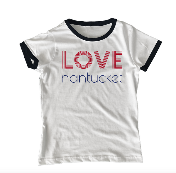 Love Nantucket Ringer Short Sleeve Tee