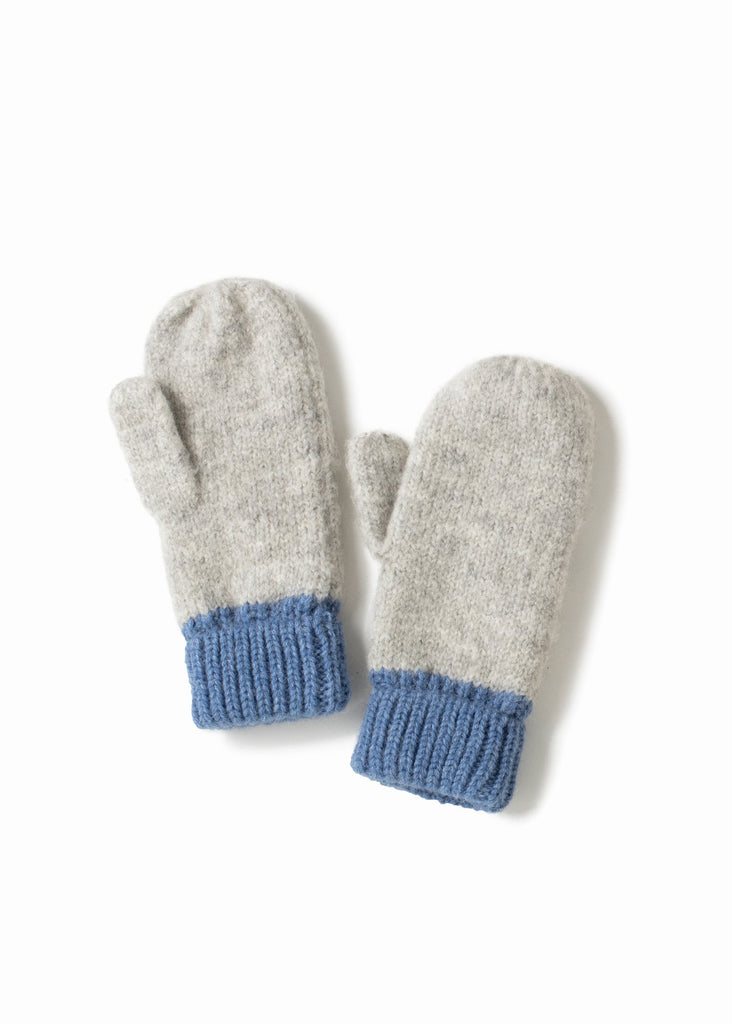 Cotton Candy Two-Tone Mittens - Blue