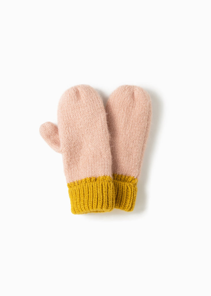 Cotton Candy Two-Tone Mittens - Yellow