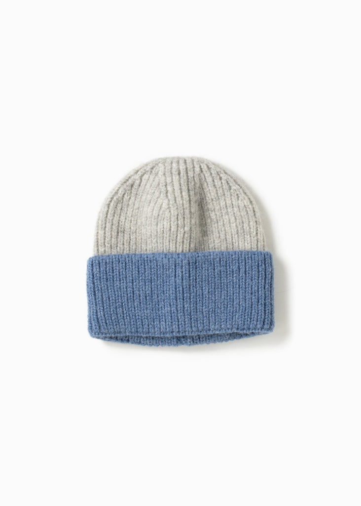Cotton Candy Two-Tone Beanie - Blue