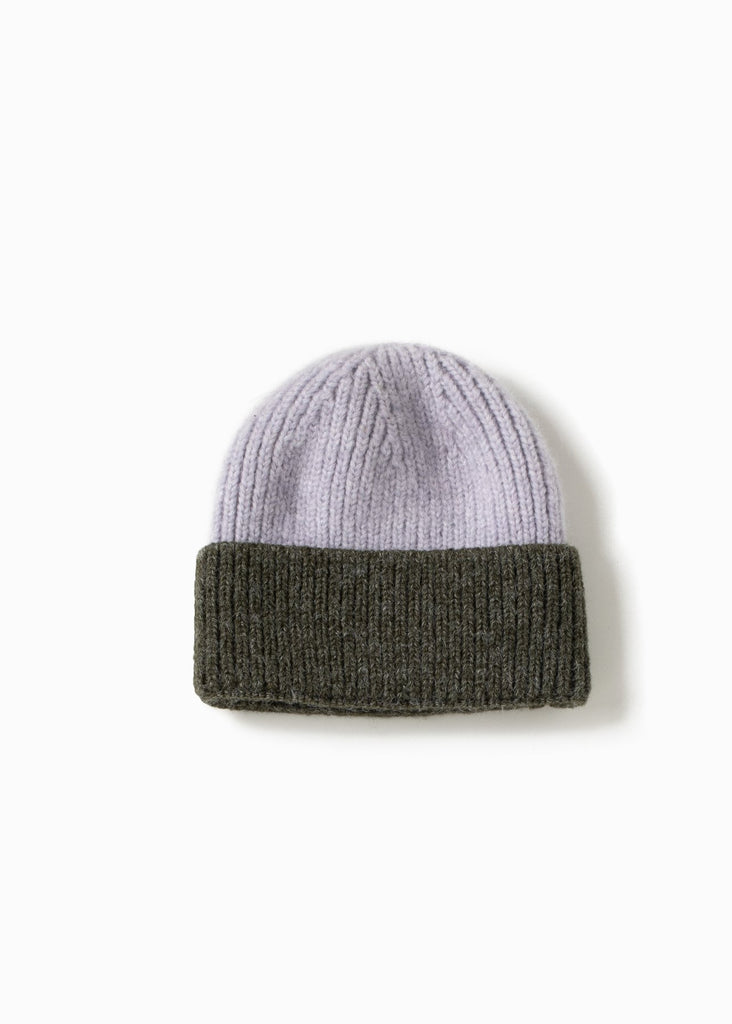 Cotton Candy Two-Tone Beanie - Green