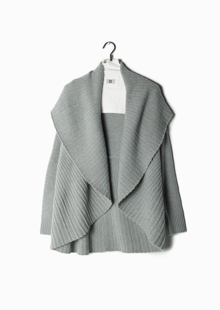 Pleats Shawl Cardigan - Mint