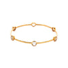 Milano 6-Stone Bangle - Clear Crystal