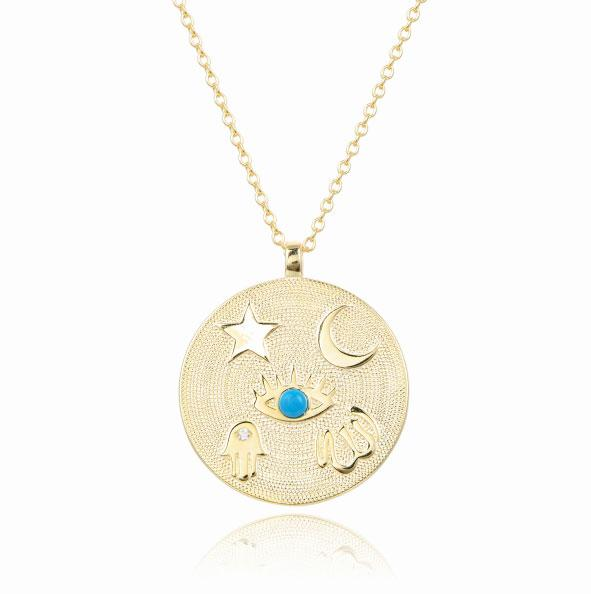 Symbols Coin Necklace