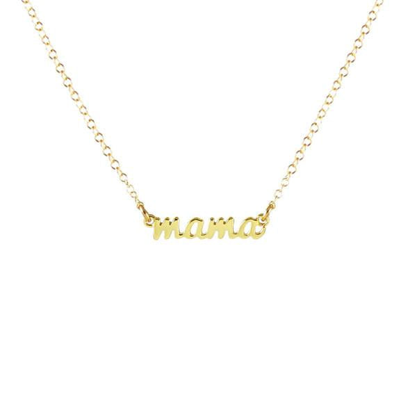 Mama Scrip Necklace - Gold