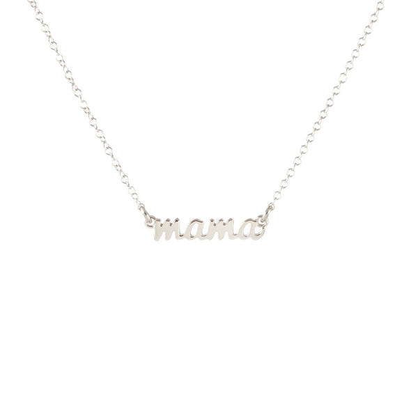 Mama Scrip Necklace - Silver