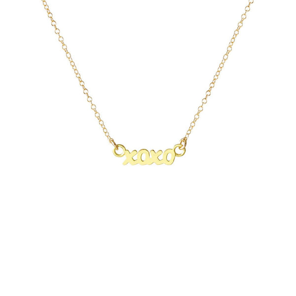 XOXO Script Necklace - Gold