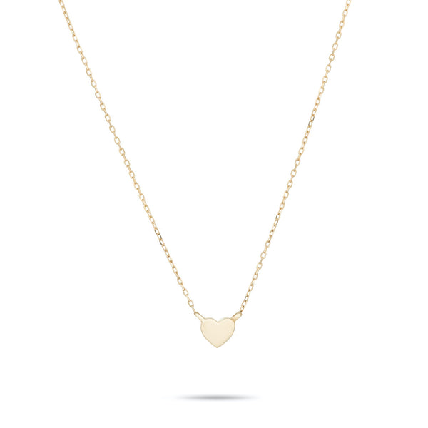 14K Super Tiny Puffy Heart Necklace