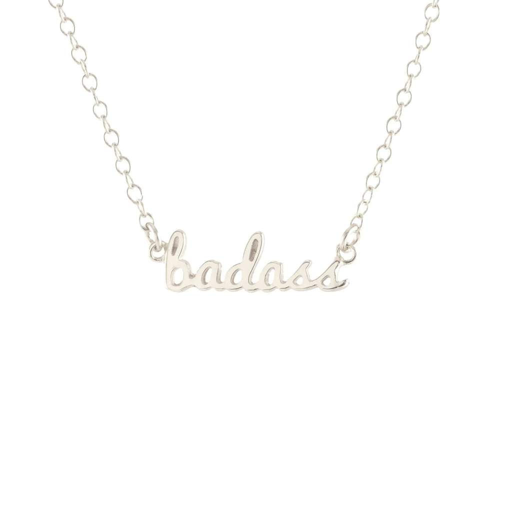 Badass Script Necklace