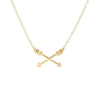 Crossing Arrows Necklace
