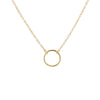 Simple Circle Necklace - Gold