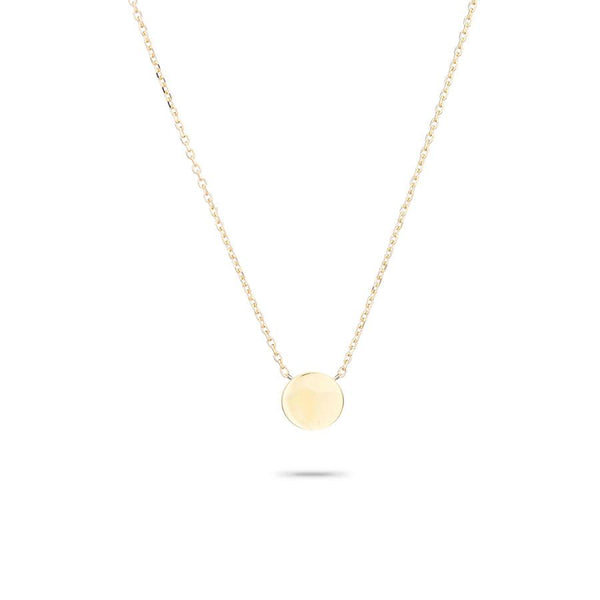 14K 3D Disc Necklace