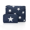 Navy with Metallic Silver Stars