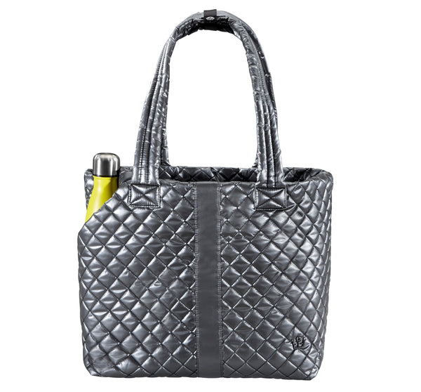 Wingwoman Tote Large Metallic Silver