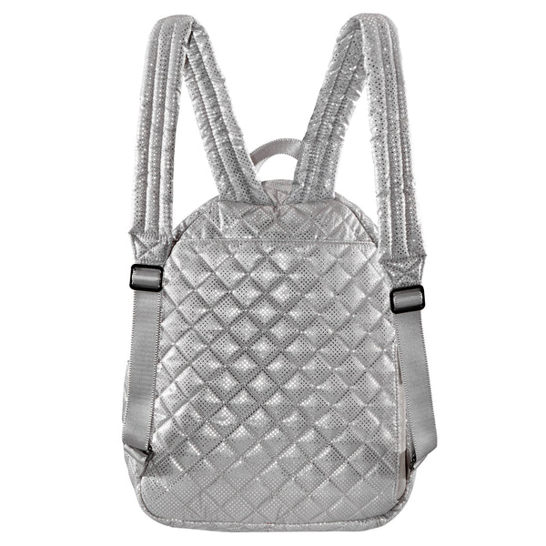 24 + 7 Small Tablet Backpack - Silver Dot Metallic