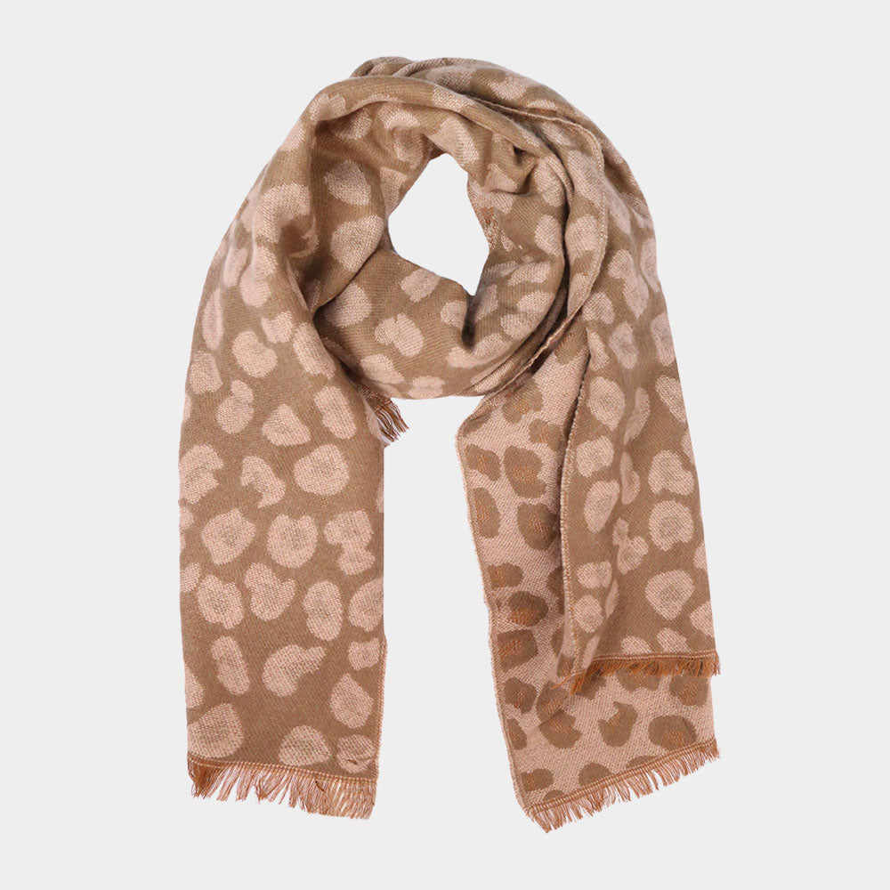 Reversible Leopard Cozy Scarf Pink