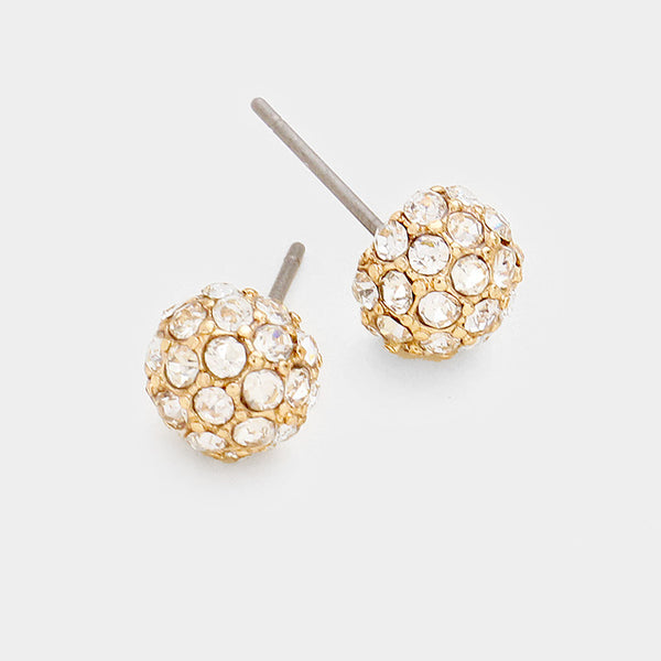 8mm Gold Disco Earring