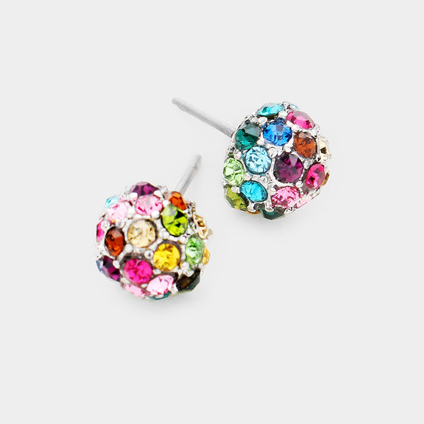 8mm Multi-Colored Disco Earring