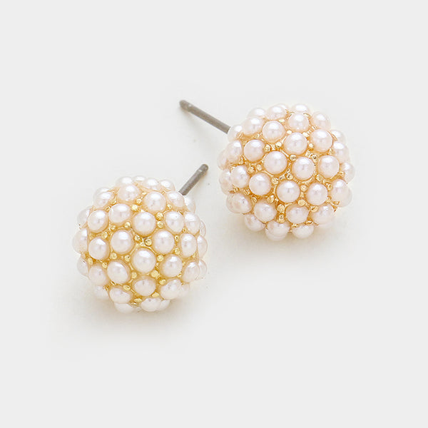 10mm Pearl Disco Earring