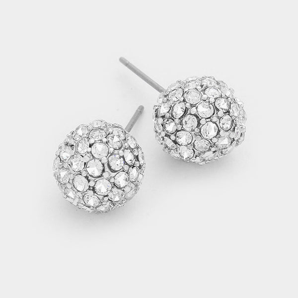 10mm Disco Ball Earring - Silver