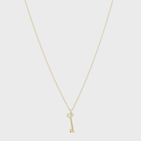 Kara Key Charm Necklace