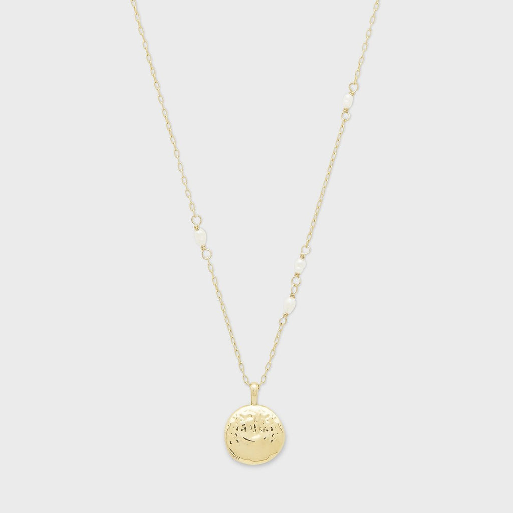 Reese Pearl Charm Necklace