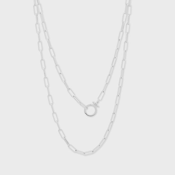 Parker Wrap Necklace Silver