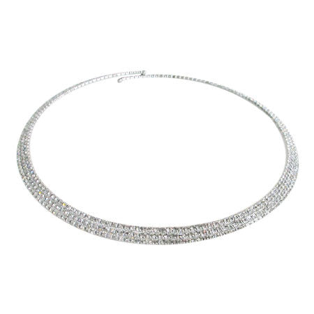 Crystal Three Row Choker
