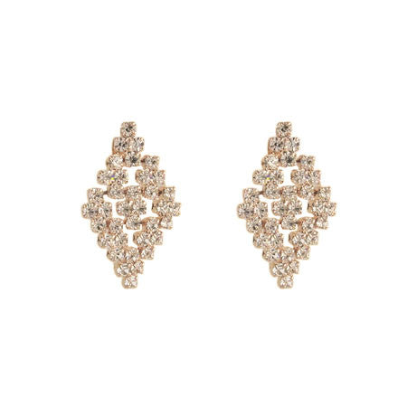 Diamond Shape Crystal Earrings