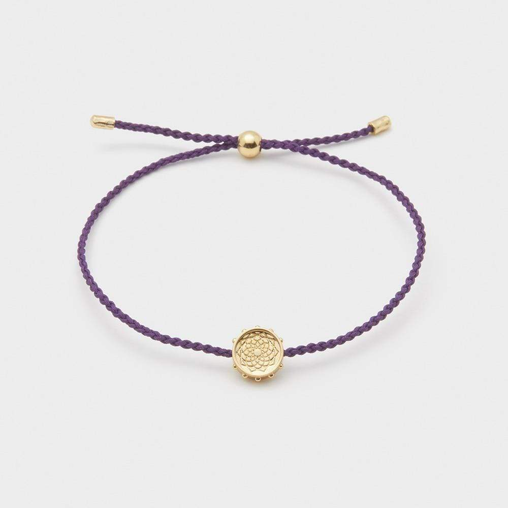 Crown Chakra Coin Bracelet for Wisdom