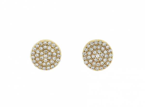9mm Pave Disc Stud