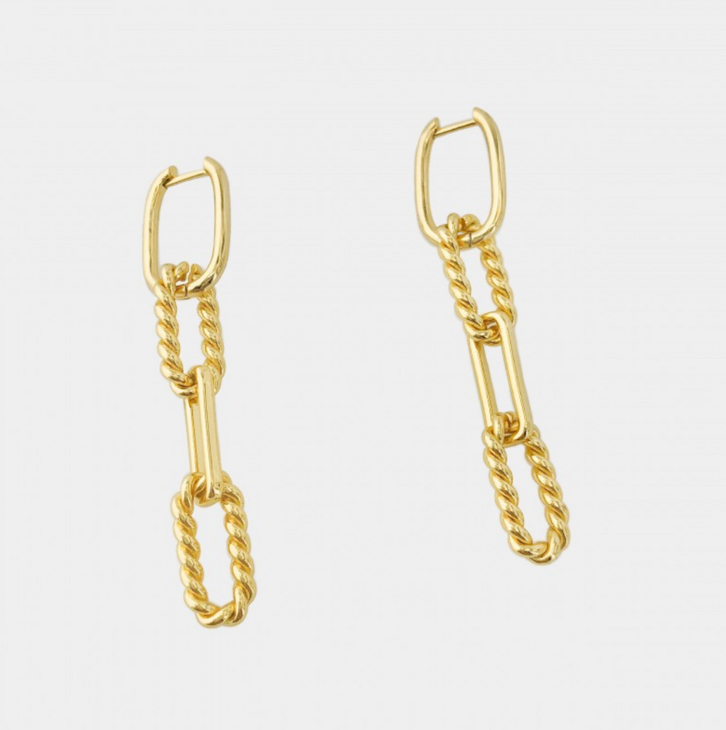 Twist Link Earrings