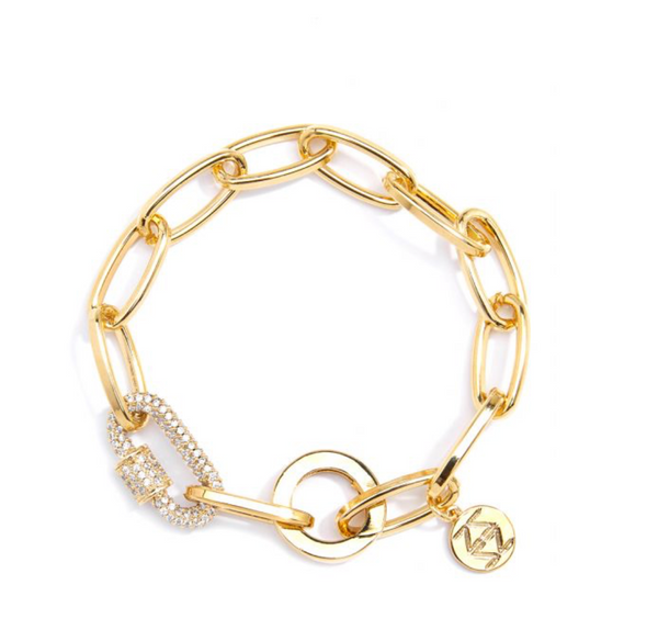 Crystal Embellished Chain Bracelet