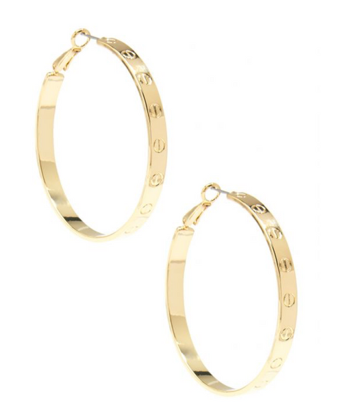 Bolted Hoop Earring