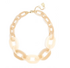 Marbled Links Collar Necklace Beige