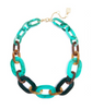 Marbled Links Collar Necklace Turquoise